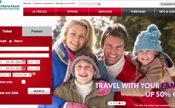 Trenitalia Homepage