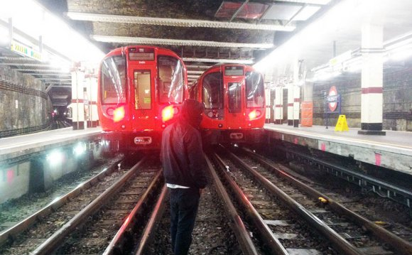 Train subway london uk