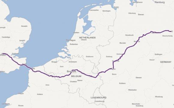 London to Wolfsburg by train