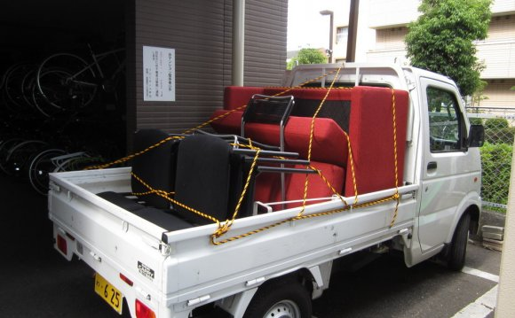 Moving japan rental car truck