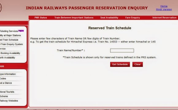 Indian railway time table