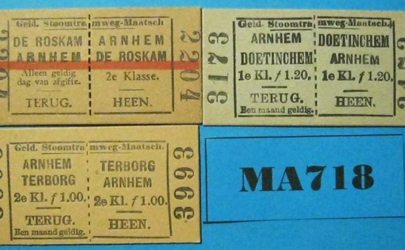 Netherlands Tram Tickets x 3