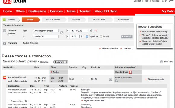 DB Bahn booking