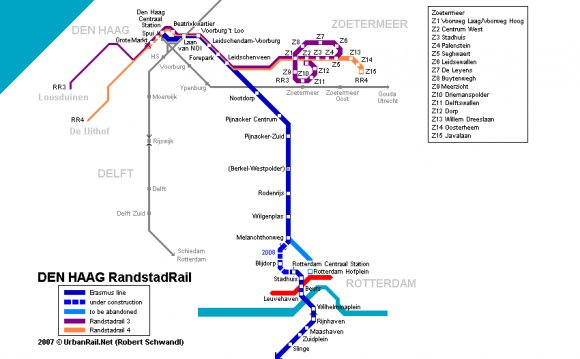 Holland train map