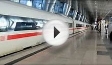 ICE Train Departing Frankfurt Airport Railway Station