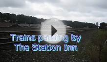 Trains passing by the Station INN (Cresson PA)