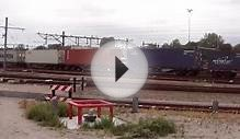 Venlo The Netherlands: Start run Freight Train to Germany